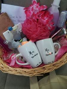 bridal shower gift basket gifts pinterest bridal With top wedding shower gifts