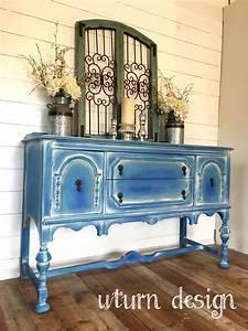 Blue, Coastal, Jacobean, Buffet, By, Uturn, Design