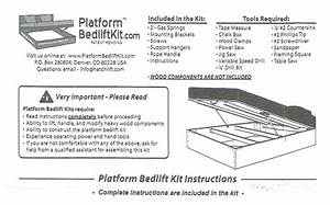 Platform Bedlift Kits Installation Instructions