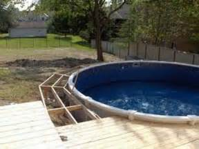 outdoor above ground pool with deck images above ground
