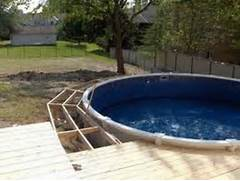 Swimming Pool Ideas With Deck Outdoor Above Ground Pool With Deck Images Above Ground Pool With Deck