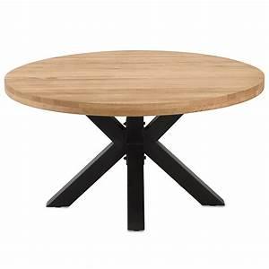 Tisch Rund 80 Cm Ausziehbar : esstisch rund 140 cm eiche massiv metall star tisch massivholztisch holztisch ebay ~ Frokenaadalensverden.com Haus und Dekorationen