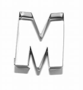 letter m 65 cm cookie cutter stainless steel cookie With letter m cookie cutter
