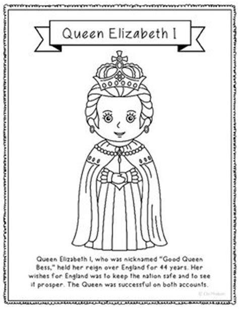 queen elizabeth  coloring page activity  poster