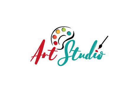 playful feminine artists logo design  art studio