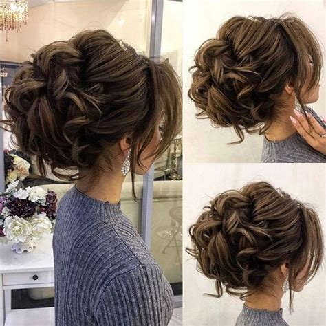 Drop dead gorgeous loose messy updo wedding hairstyle for
