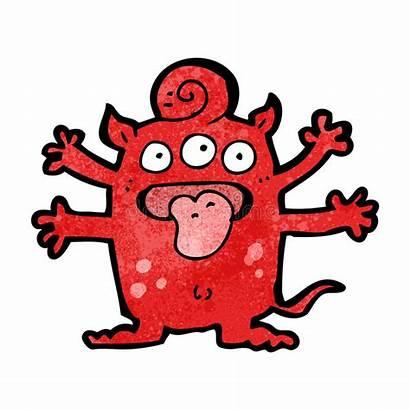 Monster Cartoon Weird Beeldverhaal Tecknad Karikatur Sonderbares