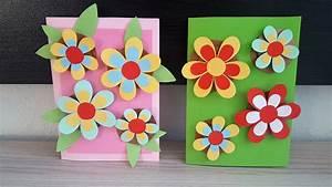 Geburtstagskarte Basteln Einfach : geburtstagskarte mit 3d blumen basteln diy handmade crafts 3dflowers birthday card ~ Orissabook.com Haus und Dekorationen