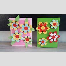 Geburtstagskarte Mit 3d Blumen Bastelndiy Handmade Crafts