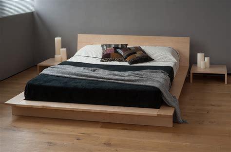wood platform king size bed frame with japanese