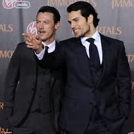 Henry Cavill and Luke Evans