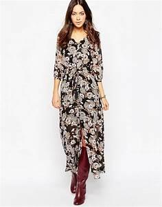 Robe Longue Style Boheme : influence influence robe longue style boh me boutonn e ~ Dallasstarsshop.com Idées de Décoration