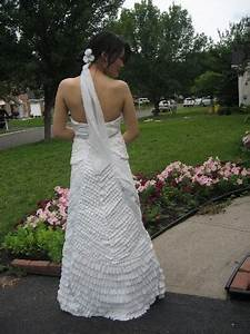 celebrating randomness toliet paper wedding gown With duct tape wedding dress