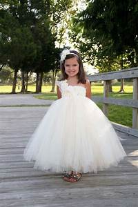 elegant ivory flower girl tutu dress flower girl dress With girl dresses for weddings