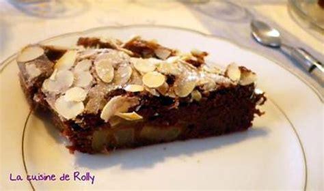 recette de moelleux poire chocolat amandes