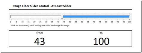 range filter slider control  microsoft excel