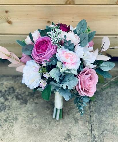 Bouquet Bridal Artificial Flower Adora Silkinfinityflowers Bridesmaid