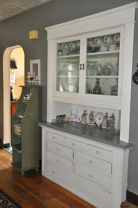 Built In China Cabinet In Bungalow Home Homespun
