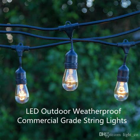 led outdoor string light weatherproof commercial grade