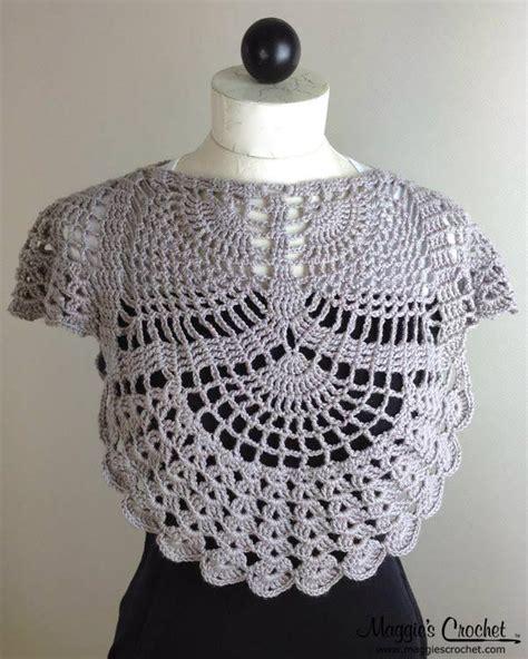 pineapple cowl wrap crochet pattern   maggie