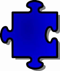 Jigsaw Blue Puzzle Piece Clip Art at Clker.com - vector ...