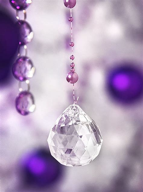 le lot de 5 pendentifs boule cristal noel