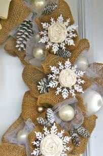 elegant burlap and snowflake wreath fynes designs fynes designs