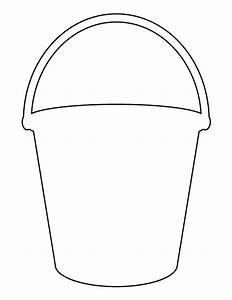 bucket pattern use the printable outline for crafts With sand bucket template