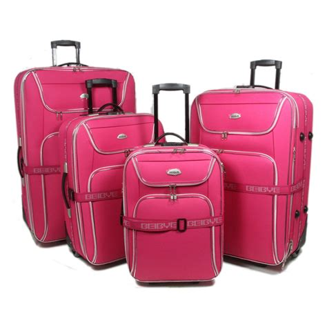koffer set kaufen pink 4tlg reisekoffer set neu trolley koffer koffer set 8006 ebay