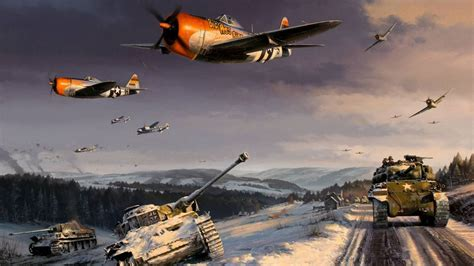 P47 Thunderbolt P38 Lightning World War Ii Battle Of The