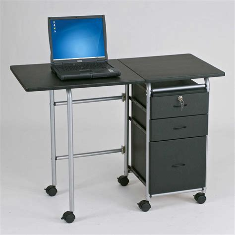 Desk On Wheels With Drawers by Small Filing Cabinet On Wheels Computer Desks For Home