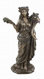 Demeter, Greek, Goddess, Of, Harvest, Bust, Figurine, Statue, Veronese, Bronze, Finish