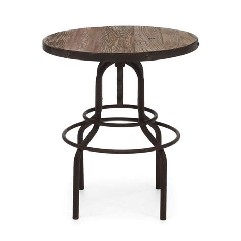 zuo peaks bar table in distressed 98180