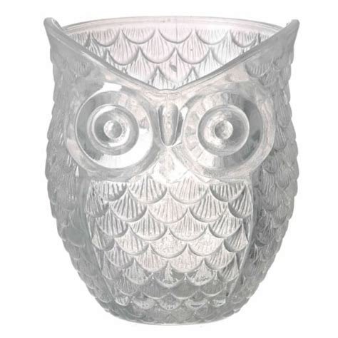 owl candle holder frosted glass owl tealight holder tealight holder