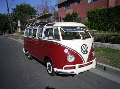 window vw bus samba  sale volkswagen bus
