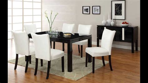 Black Dining Table by 7 Pc Lamia I Contemporary Style High Gloss Black Wood