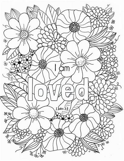 Coloring Pages Bible Christian Jesus Verse Christ