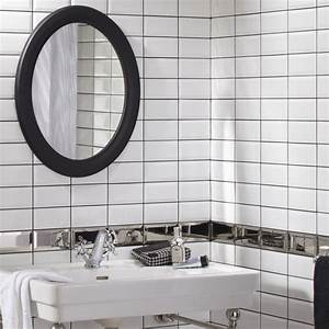 carrelage mural metro artens en faience blanc 75 x 15 With faience salle de bain blanc