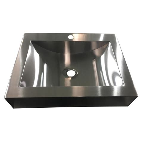 decor sinks y decor hardy 16 5 in undermount bathroom sink in stainless steel habr2116 the home depot