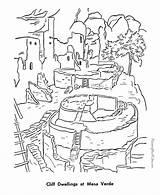 Coloring Verde Mesa Sheets Cliff Pueblo Dam Hoover Indian Printables National Dwellings Parks Template Boy Colorare Monuments Az Colorear Window sketch template