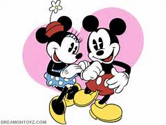 Pics   Gifs   Ph...Mickey Mouse And Minnie Kissing