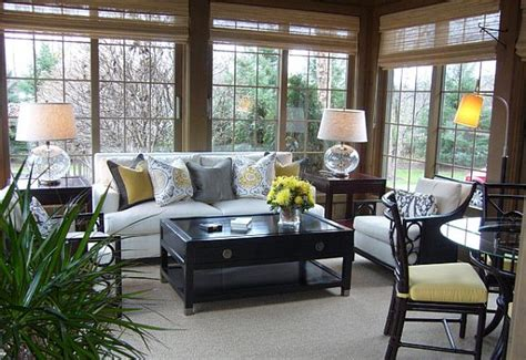 Indoor Fireplace Coffee Table by Choosing Sunroom Furniture To Match Your Design Style
