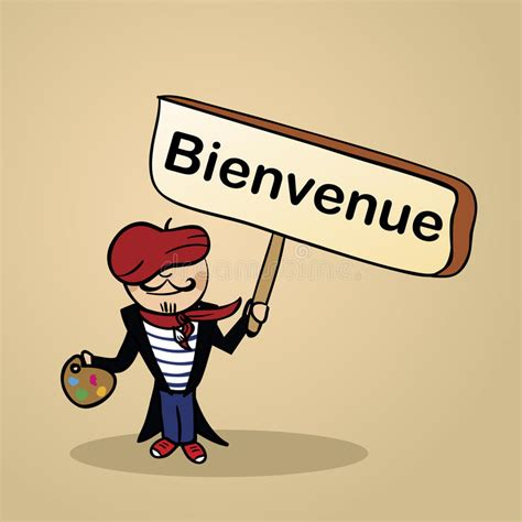 Welcome To France People Design Stock Vector ...