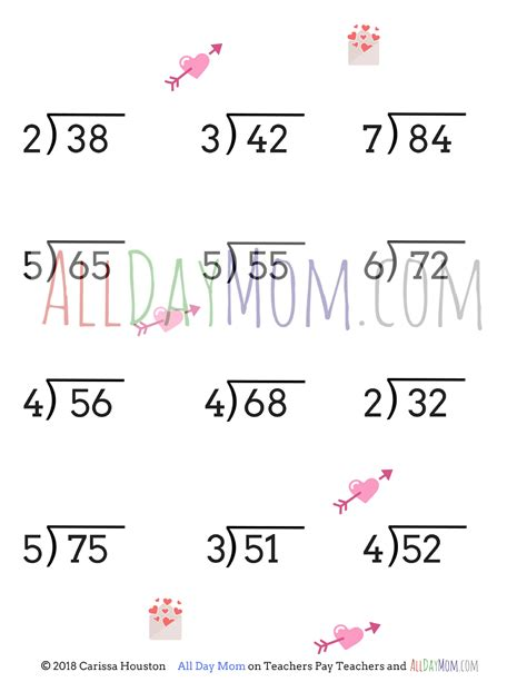 Free Printable Valentine's Day Math Worksheets