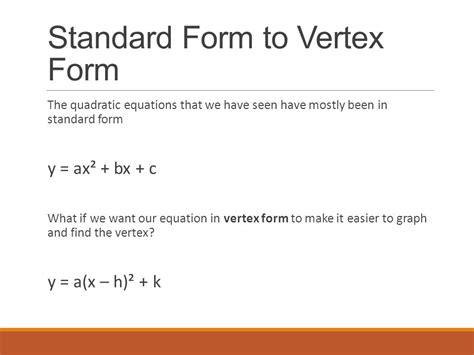 Vertex Form  Ppt Video Online Download