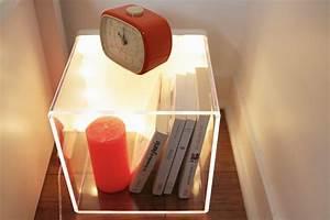Table De Chevet Transparente : vid o d co 7 id es tables de chevet youmakefashion ~ Melissatoandfro.com Idées de Décoration