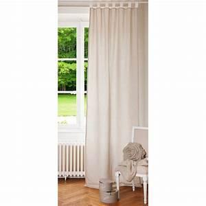 Rideau En Lin Blanc : rideau double face passants en lin cru et blanc 105 x ~ Melissatoandfro.com Idées de Décoration