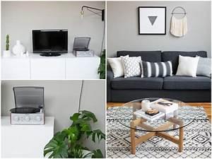 Deco Bois Et Blanc : salon gris et blanc blog d coration d 39 int rieur clem around the corner ~ Melissatoandfro.com Idées de Décoration
