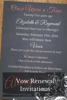 1000 ideas about vow renewal invitations on