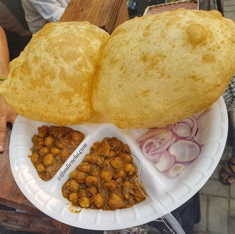 The refined flour dough for the bhature needs to be left to ferment for a few hours before being rolled into oval shaped discs and. I Ate Indian Food Chole Bhature : food